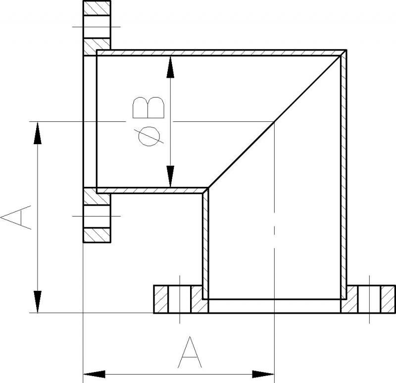 winkelst ck 90 edelstahl dekont vakuum shop. Black Bedroom Furniture Sets. Home Design Ideas
