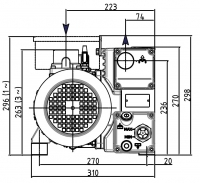 dv s 205hv drehschieberpumpe dekont vakuum shop. Black Bedroom Furniture Sets. Home Design Ideas